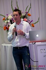 Chas McFeely (CEO of HuookChasUp.com) at the 2011 Internet Dating Industry Conference in Los Angeles