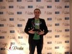 Sam Yagan - OKCupid.com won 3 iDateAwards  for 2012 at the 2012 iDateAwards Ceremony in Miami held in Miami Beach