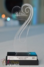 The iDate Award Trophy at the 2012 iDateAwards Ceremony in Miami