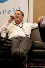 Max McGuire (CEO of RedHotPie) at the January 16-19, 2013 Internet Dating Super Conference in Las Vegas