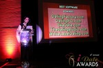Maria Avgitidis announcing the Best Dating Software and SAAS at the 2013 iDateAwards Ceremony in Las Vegas