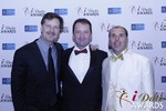 eHarmony's Grant Langston with Mark Brooks and Marc Lesnick at the 2015 Las Vegas iDate Awards