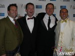 Michael O'Sullivan, Mark Brooks, Max McGuire and Marc Lesnick in Las Vegas at the January 15, 2015 Internet Dating Industry Awards