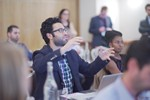 Questions from the audience at UK iDate Dating Business conference in London 2016. at the September 26-28, 2016 event for global online dating and matchmaking professionals in Londres